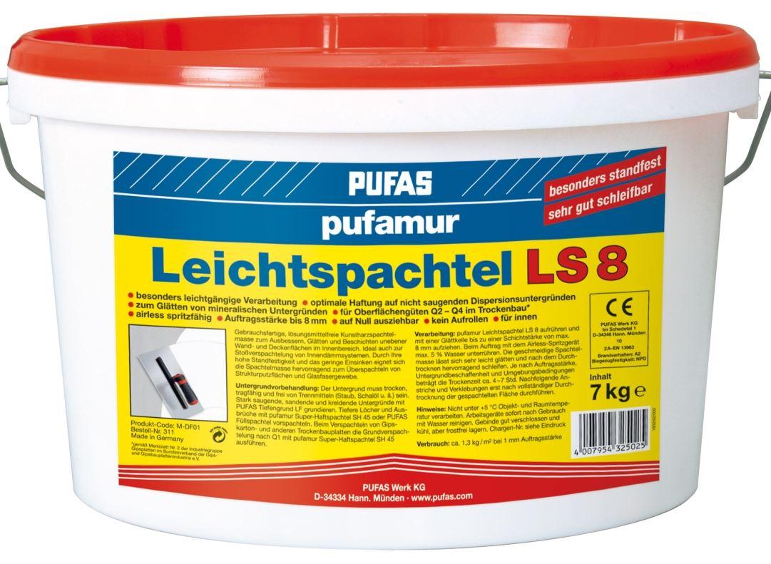 pufas pufamur leichtspachtel ls 8 gebrauchsfertige kunstharz leichtspachtelmasse pufas pufamur. Black Bedroom Furniture Sets. Home Design Ideas